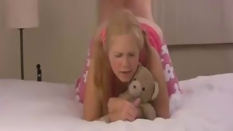 dad teaches daughter about anal