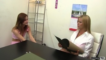 Alaina Dawson and Alexis Fawx finger each other's tight holes