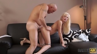 Svelte long legged Hungarian blondie Candee Licious loves nothing but mish