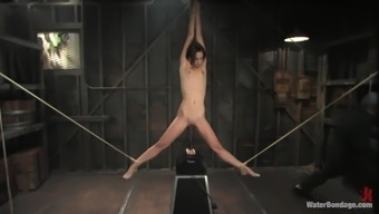 Skinny bitch tied up and gagged