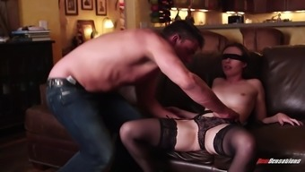 Alluring reality babe in sexy lingerie gets fucked hardcore after getting her asshole  fingered
