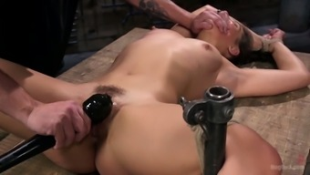 Svelte pretty nympho Abella Danger takes a chance to try out some BDSM
