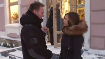 Stasya Stoune ends up having a sex date on a cold winter day