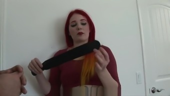 GREEN PANTY ALISON MILLER LEATHER PADDLED SPANKING