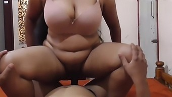 Indian Big Boobs Neighbours Wife Riding On Me, Blowjob, Cumshot