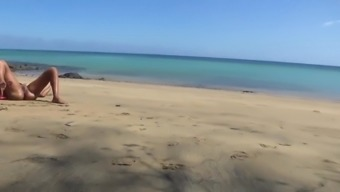 awesome camsoda model caught naked on a public beach, cute teen