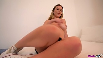 Ardent Sophie K has a chance to expose her big boobs and booty