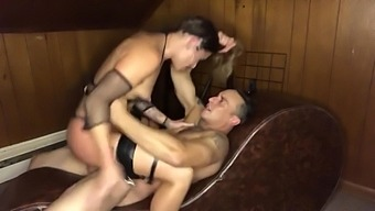 Leather garters pt4: face riding, 69, cock riding & sucking (REAL orgasm)