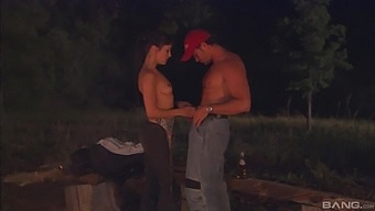 Outside sex and blowjob in the forest are the fantasies of Cytherea