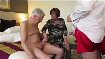 Shemale and mature granny and grandpa porn video