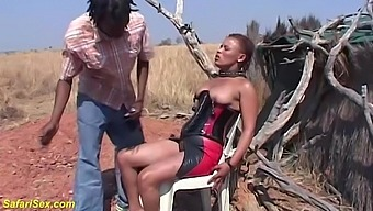 Busty african redhead latex corset milf gets rough big cock fetish fucked