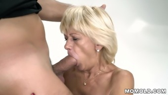 Granny squirts on a hard cock