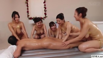 JAV soapland harem voluptuous nonstop lotion play Subtitles