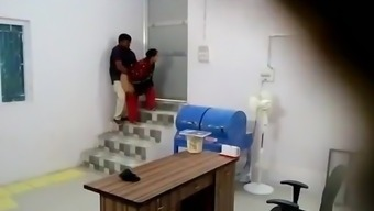 Indian Manager fucks her desi employee in the basement P2