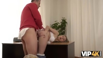 Vip4k.girl needs help but sex with old man makes forget