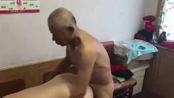 Muted chinese old man fucking grandma