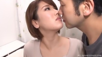 POV doggy and missionary fuck with Japanese in a miniskirt Kase Kanako