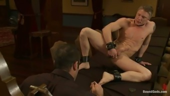 Spanking and Fucking a Gay Guy's Butthole in Bondage Video