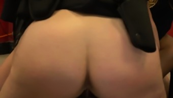 Barbershop client is subdued into banging horny milf cops