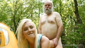 Horn-mad old forested fucks tight pussy of lovely blondie Lovita Fate