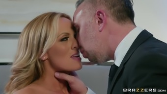 Blonde MILF in glasses Stormy Daniels missionary fucked and creamed