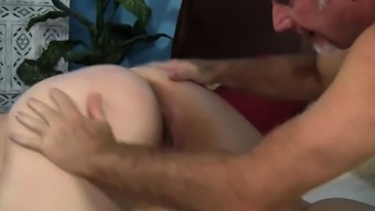 Hard shaft penetrates her tight cunt