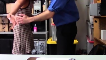 Ebony employee fucked by security after stealing goods