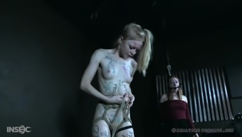 Sweet blonde chick Alice gets tied up by a naughty mistress