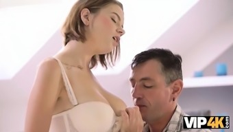 VIP4K. Cool old and young sex helps partners
