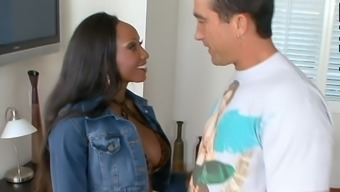 Bootyful black nympho with big boobies Diamond Jackson is poked from behind