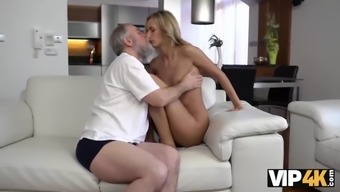 Vip4k. horny daddy demonstrates blonde colleen what passion