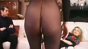 DP Anal 3some For Crazy Euro Babe With her Lover