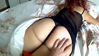 Son fucked mom in the ass on the bed. Mom and son real anal sex