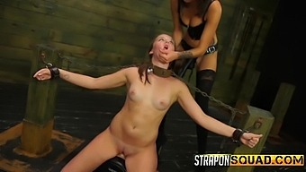BDSM and sex with a strapon is amazing for lesbian Charli Acacia
