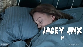 Sleeping chick with rounded ass Jacey Jinx deserves some kinky bondage