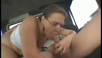 mature whore with saggy tits gets fucked by big cock in bangbus