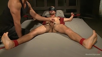 Sleeping boyfriend woken up to be tied up and fucked deep in his ass