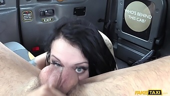 Alessa Savage teases the taxi driver and gets a fuck of her life