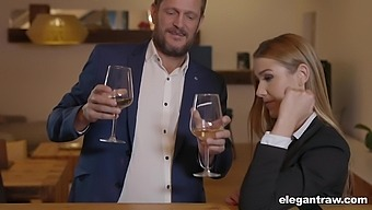 Passionate fucking in all holes after a dinner with Alexis Crystal