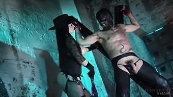 Busty mistress treats her male slave with rough XXX action