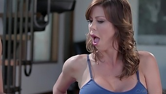 Lesbian milfs Penny Pax and Alexix Fawx are toying Kira Nor's anal hole