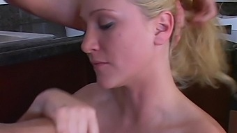 Sexy sister's girlfriend Alexis Malone turned to be a blowjob expert and insatiable bitch