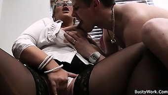 Big tits woman in uniform screwed from behind