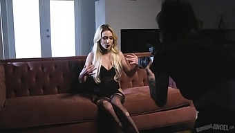 Inked blonde whore Aiden Ashley getting pounded super hard on camera