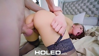 Slutty babe in stockings Aidra Fox is craving for rough anal sex