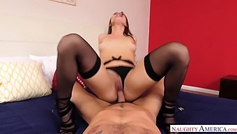 Beauteous temptress Aidra Fox just knows how to ride a dick like a champ