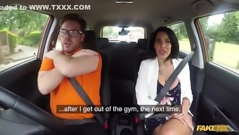 Tattooed Hoe With Big Knockers Gets Banged In The Car - Ryan Ryder And Alice Judge