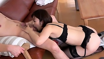 Asian girl blowjob fingered and titty fucked