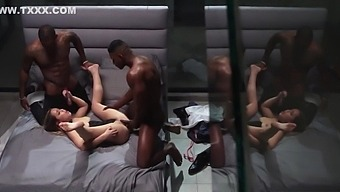 Alina Lopez In The Negro Undressed The White Girlfriend And Enjoyed A Group Sex On A