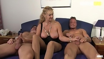 German Big Tits Mature Wife Cheats And Fucks Two Young Studs